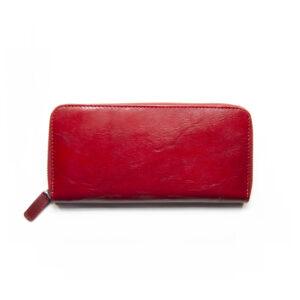 Portafogli in Pelle Rosso